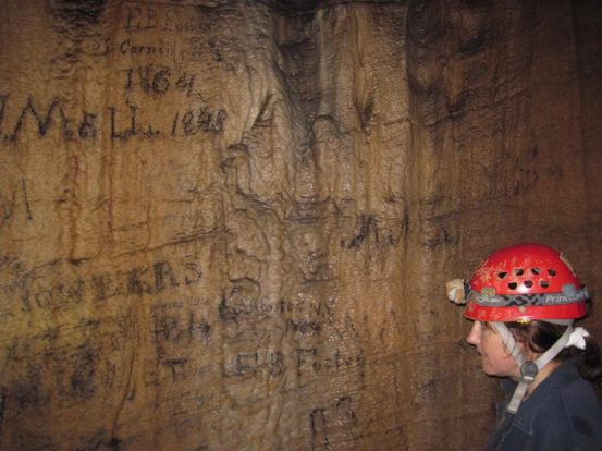 Author reads the writing on the cave walls