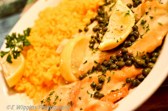 Chicken Piccata with Yellow Rice