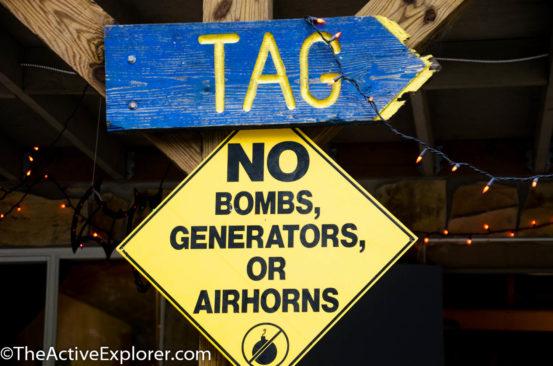 TAG Sign: No Boms, generators or airhorns.
