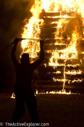 Bonfire just after ignition.