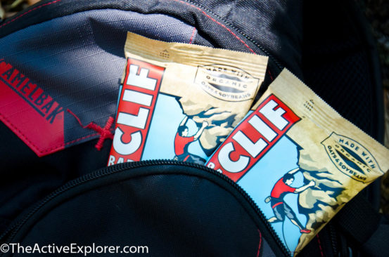 Clif Bars in my pack