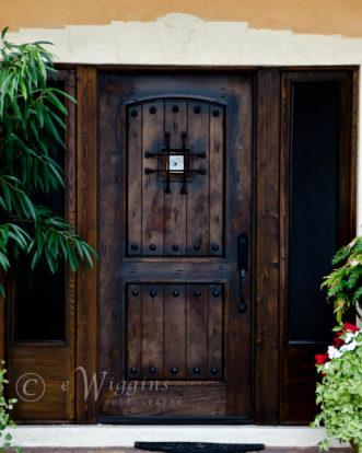 Door with an evil eye talisman