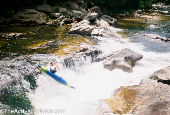 The rapids along the Chattooga make it a favorite of adrenalin junkie paddlers.