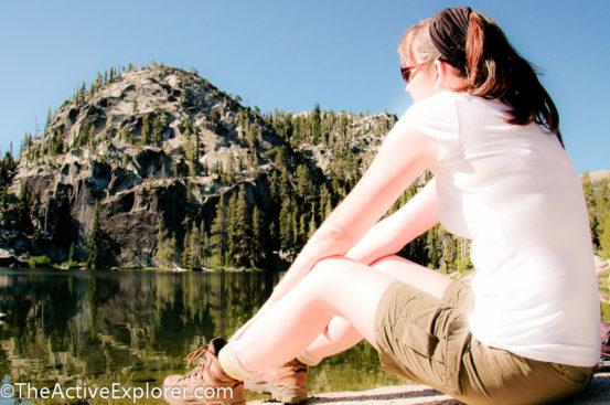 Enjoying the view at Dardanelles Lake.