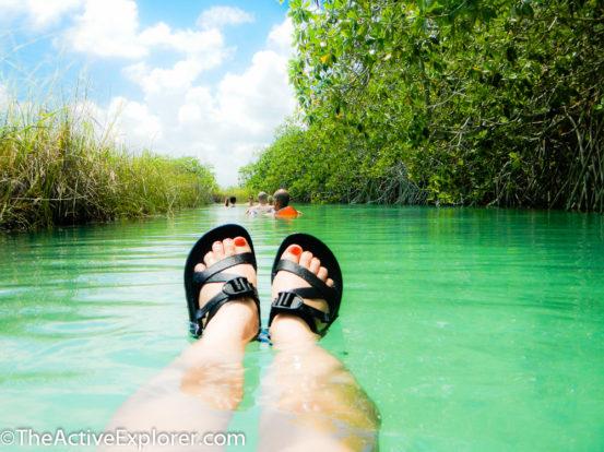 Floating in Sian Ka'an Biosphere