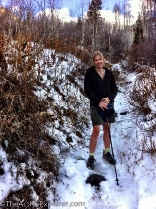 Snowy Trail to Lake Blanche