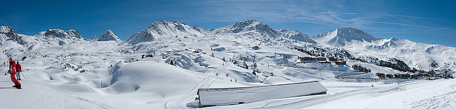Ski areas at La Plagne, France