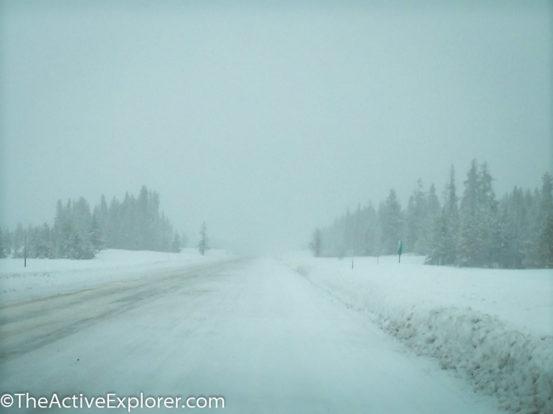 Snowstorm on I -15
