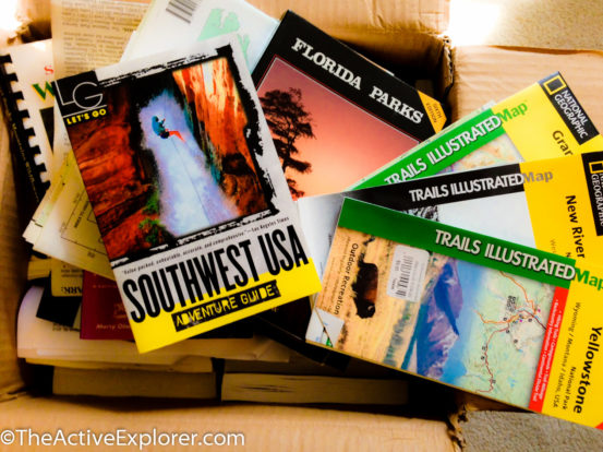 Box of Trail Maps and Guides