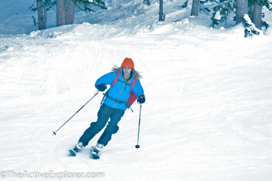 Skier at Brighton Ski Resort