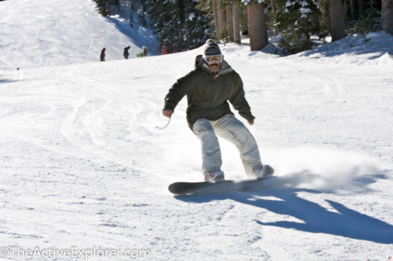 Snowboarding at Brighton