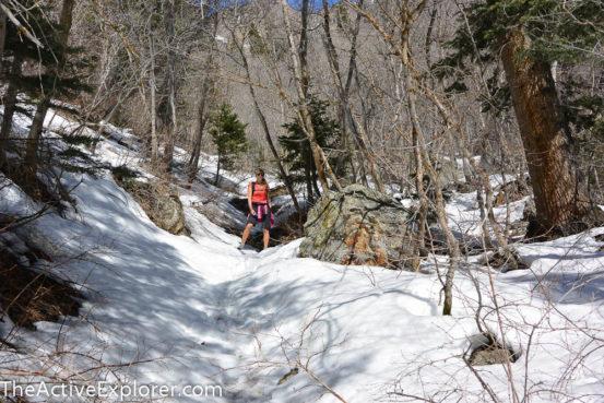 Snowed in trail in Big Cottonwood
