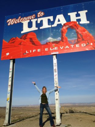 The Active Explorer at the Utah state line