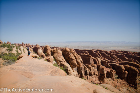 Rock fins on the Devil's Garding Trail in Arches National Park