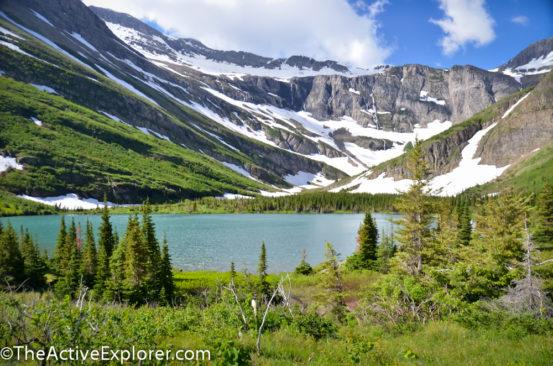 Bullhead Lake on the Swiftcurrent Trail