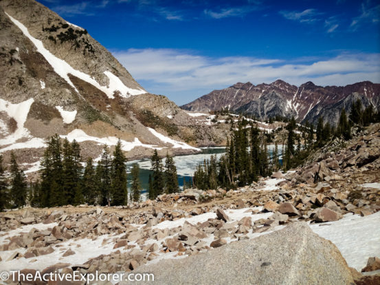 White pine Lake from the ridge.