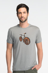 "The men's shirt with ""logbike"" artwork."