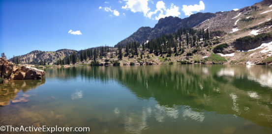 Panorama of Cecret Lake