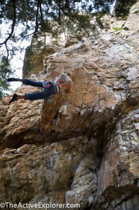Brandon Aegerter solo climbing