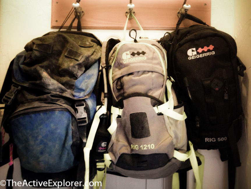 Geigerrig Packs by the Door
