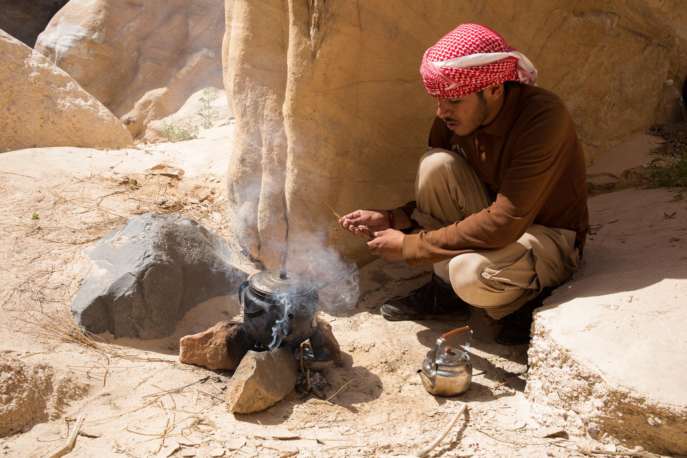 Bedouin Guide Preparing Tea