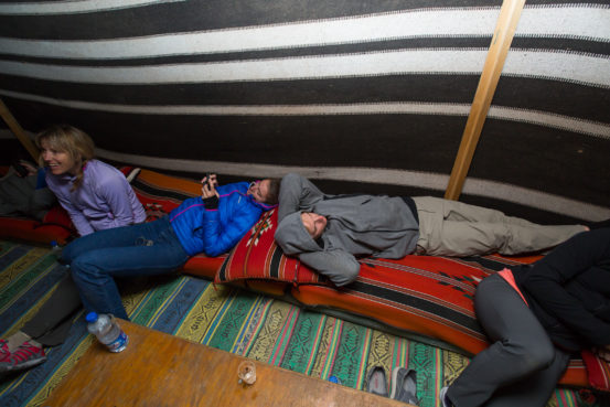 Inside the Bedouin Tent at Rummana Camp