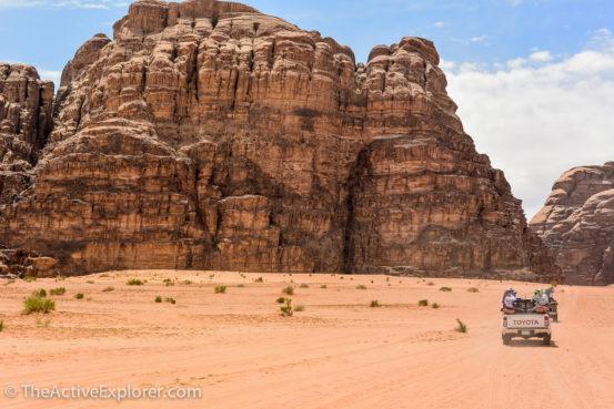 Riding to camp in Wadi Rum