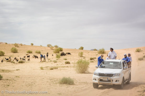 Filming in the Wadi Rum Desert, Jordan