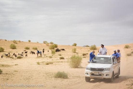 Filming in the Wadi Rum Desert, Jordan