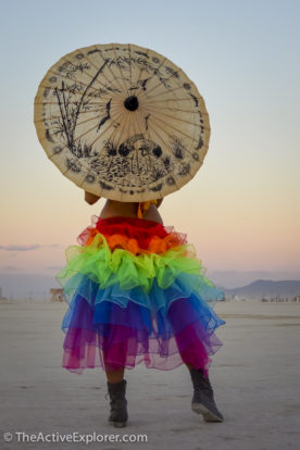 Girl on the Playa at Burning Man 2014