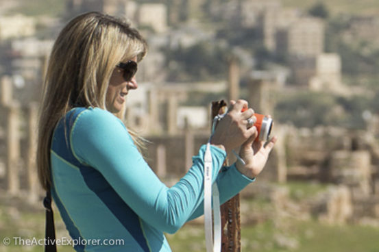 Shooting with the Nikon AW1, in the ruins of Jerash, Jordan - The Active Explorer
