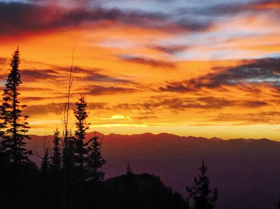 Sunset on Lone Peak Hike - TheActiveExplorer.com