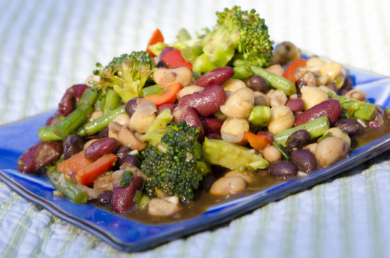 Quick and Healthy Vegetable Bean Salad - TheActiveExplorer.com