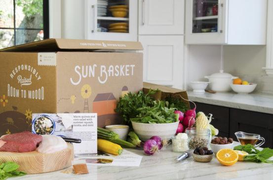 Sun Basket Box on Table