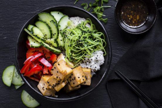 Sun Basket Tofu Dinner - Yummy!